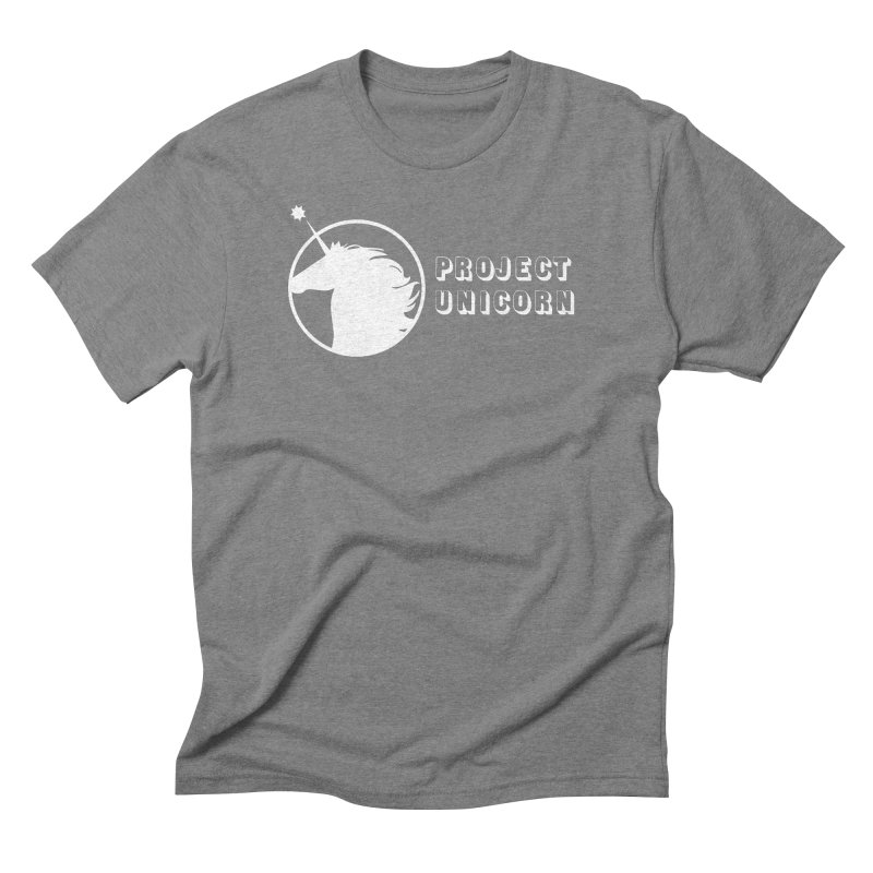 Project Unicorn Logo with text white Men's Triblend T-Shirt by bornjustright's Artist Shop