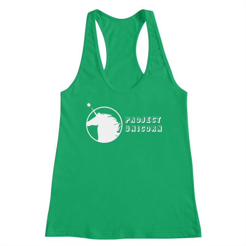 Project Unicorn Logo with text white Women's Tank by bornjustright's Artist Shop