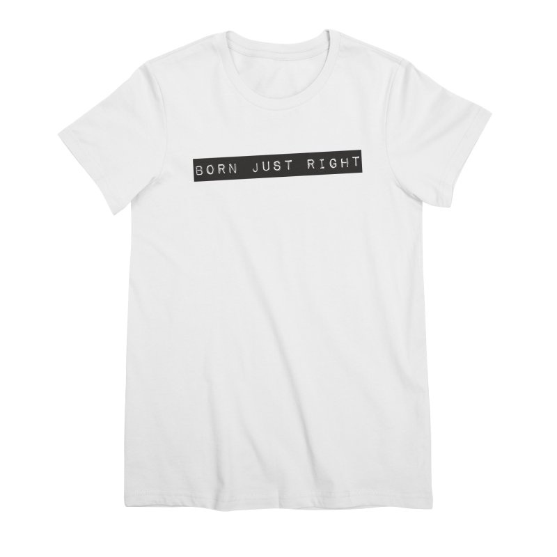 BJR Black Bar Women's Premium T-Shirt by bornjustright's Artist Shop