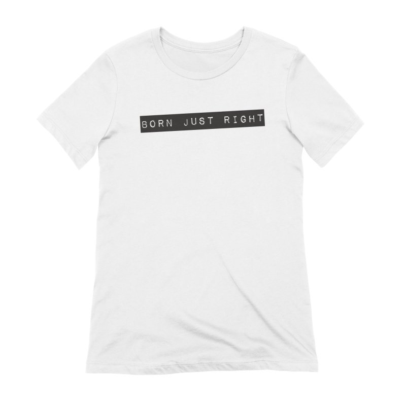 BJR Black Bar Women's Extra Soft T-Shirt by bornjustright's Artist Shop