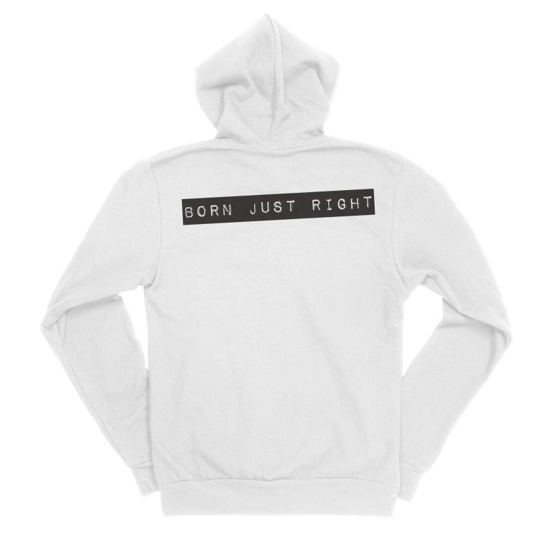 BJR Black Bar Men's Sponge Fleece Zip-Up Hoody by bornjustright's Artist Shop