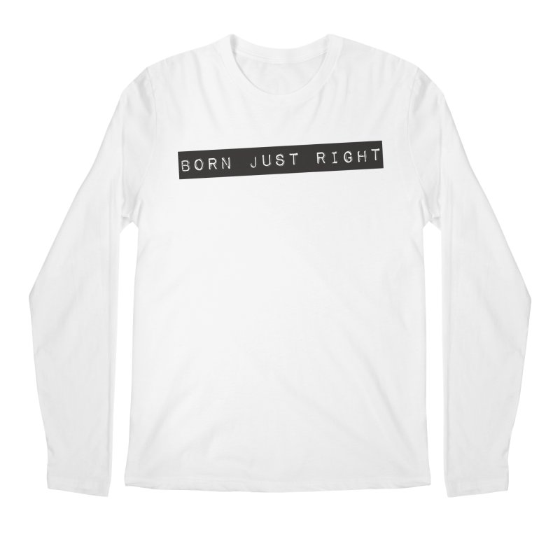BJR Black Bar Men's Regular Longsleeve T-Shirt by bornjustright's Artist Shop