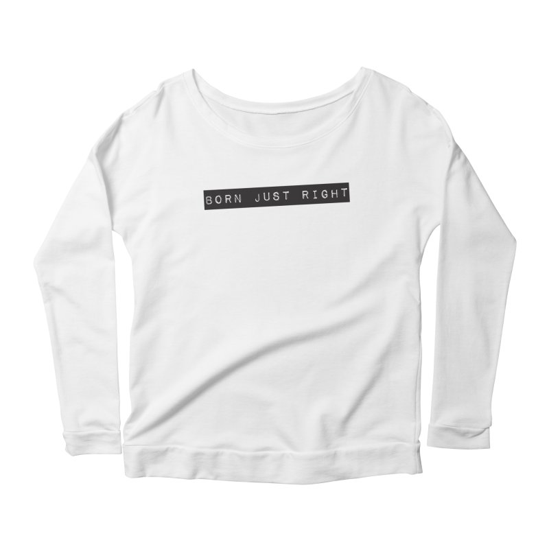 BJR Black Bar Women's Scoop Neck Longsleeve T-Shirt by bornjustright's Artist Shop