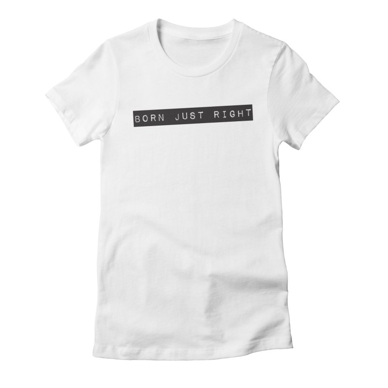 BJR Black Bar Women's Fitted T-Shirt by bornjustright's Artist Shop