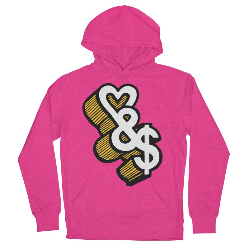 love & money Women's French Terry Pullover Hoody by bortwein's Artist Shop