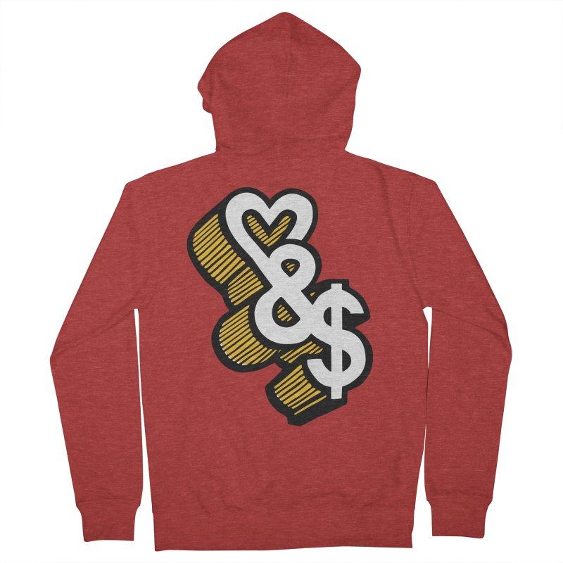 love & money Women's Zip-Up Hoody by bortwein's Artist Shop