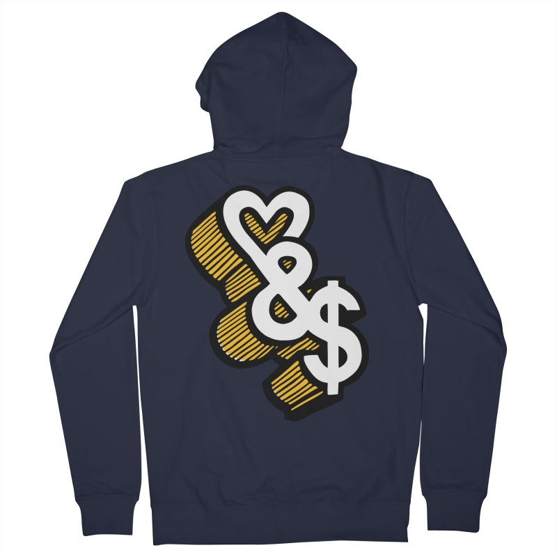 love & money Women's French Terry Zip-Up Hoody by bortwein's Artist Shop