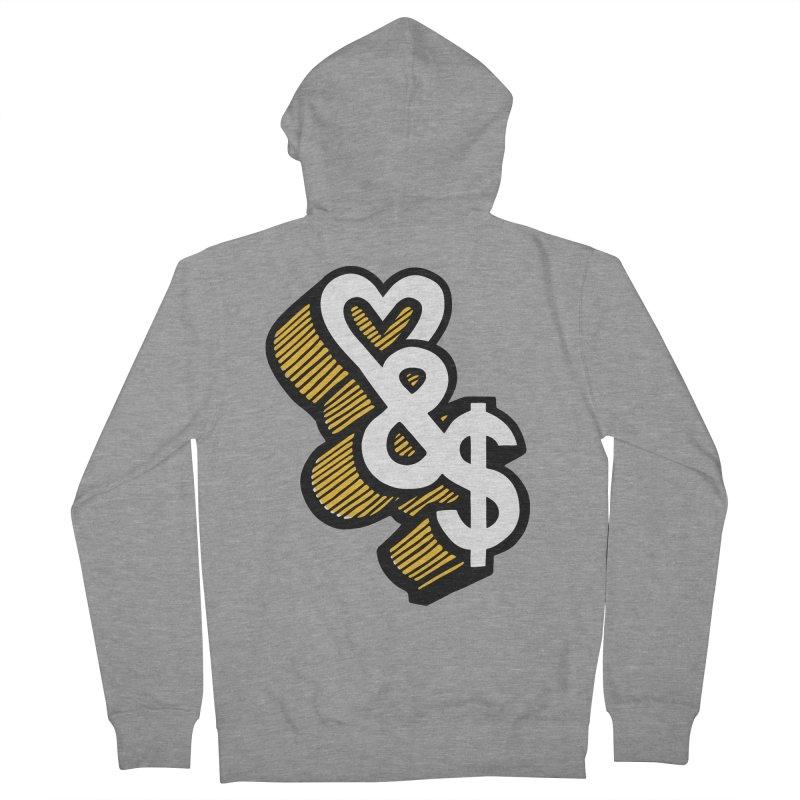 love & money Men's Zip-Up Hoody by bortwein's Artist Shop