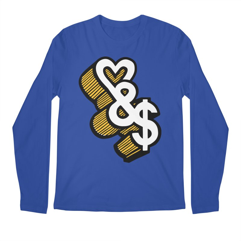 love & money Men's Longsleeve T-Shirt by bortwein's Artist Shop