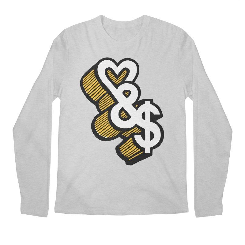 love & money Men's Longsleeve T-Shirt by bortwein's Artist Shop