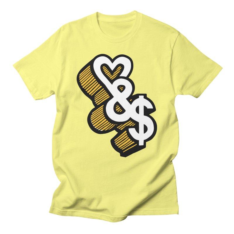 love & money Men's T-Shirt by bortwein's Artist Shop