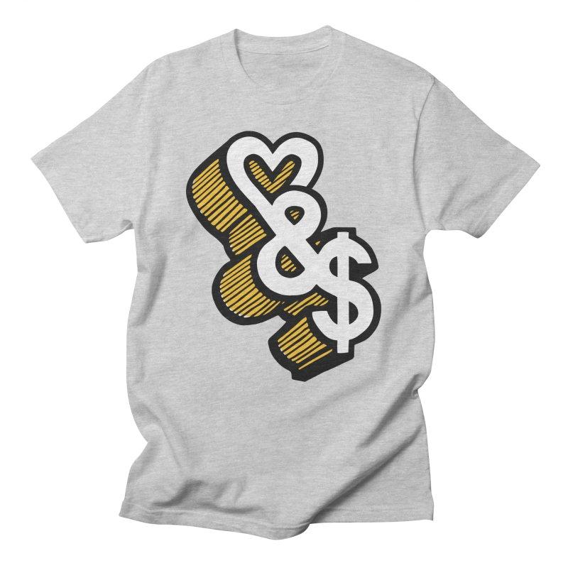 love & money Women's Regular Unisex T-Shirt by bortwein's Artist Shop