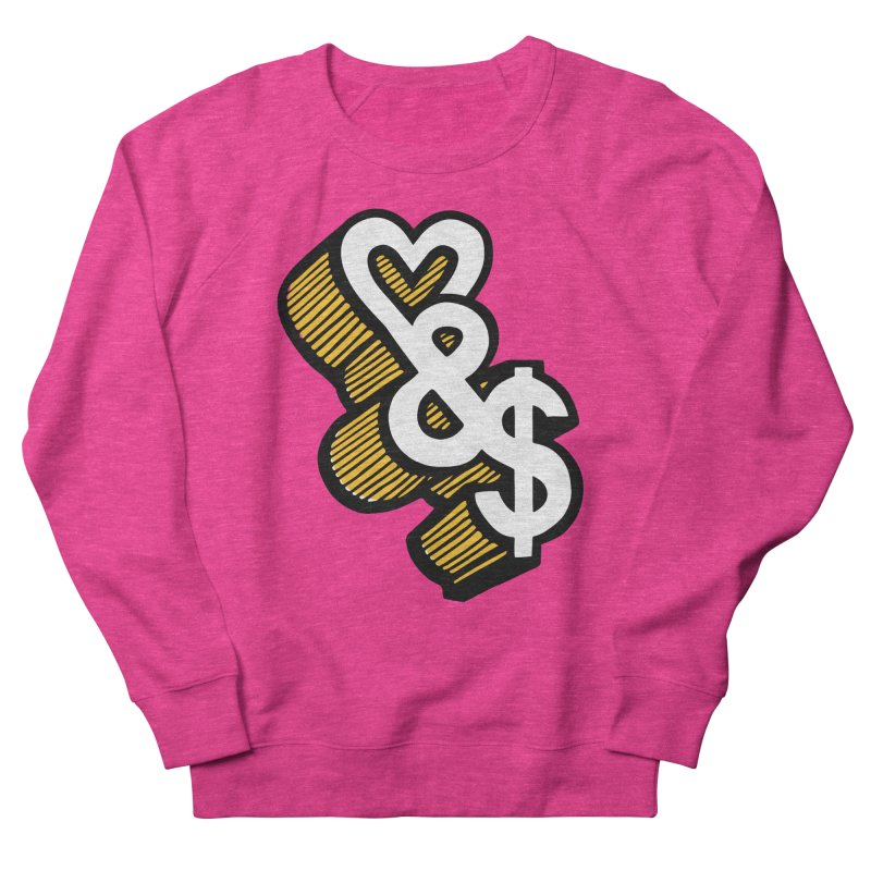 love & money Men's Sweatshirt by bortwein's Artist Shop