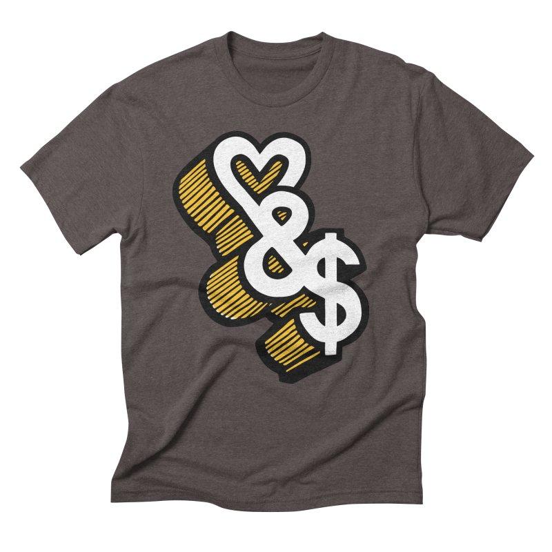 love & money Men's Triblend T-Shirt by bortwein's Artist Shop