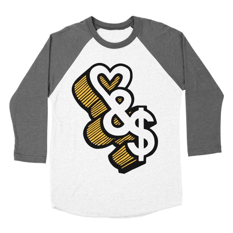 love & money Women's Baseball Triblend T-Shirt by bortwein's Artist Shop