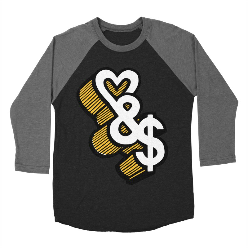 love & money Women's Baseball Triblend T-Shirt by bortwein's Artist Shop