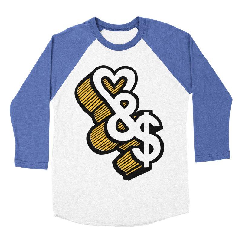 love & money Men's Baseball Triblend Longsleeve T-Shirt by bortwein's Artist Shop