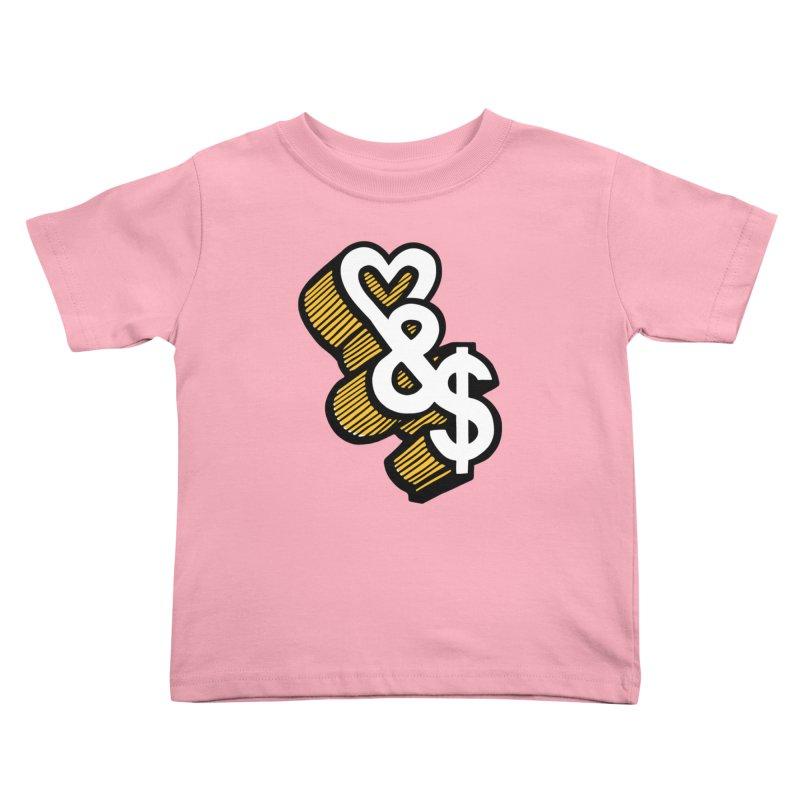 love & money Kids Toddler T-Shirt by bortwein's Artist Shop
