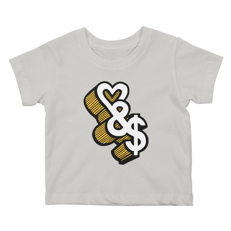love & money Kids Baby T-Shirt by bortwein's Artist Shop