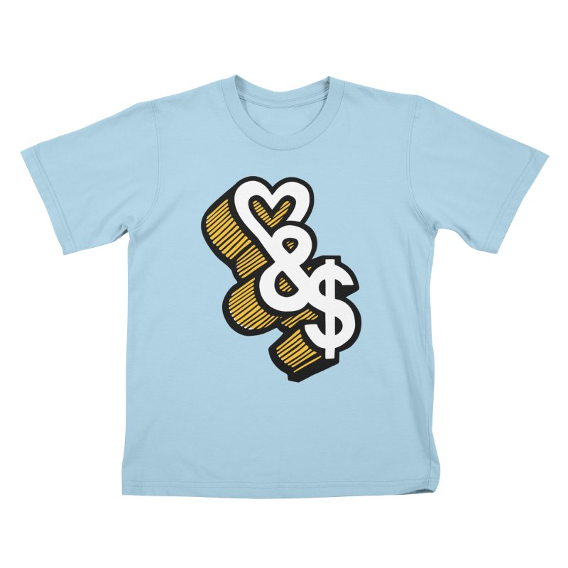 love & money Kids T-shirt by bortwein's Artist Shop