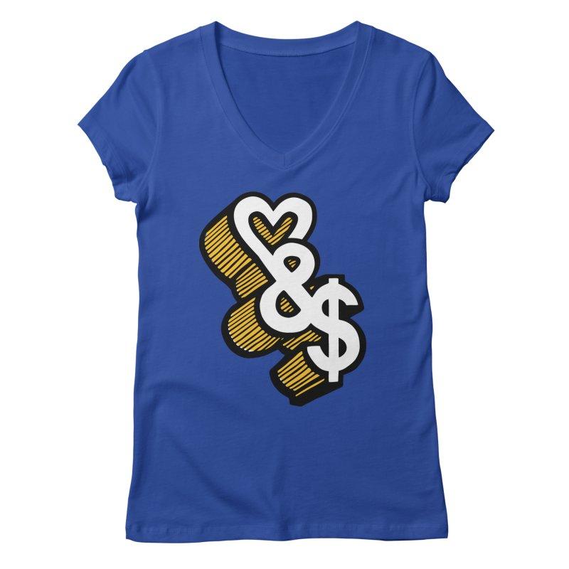 love & money Women's Regular V-Neck by bortwein's Artist Shop