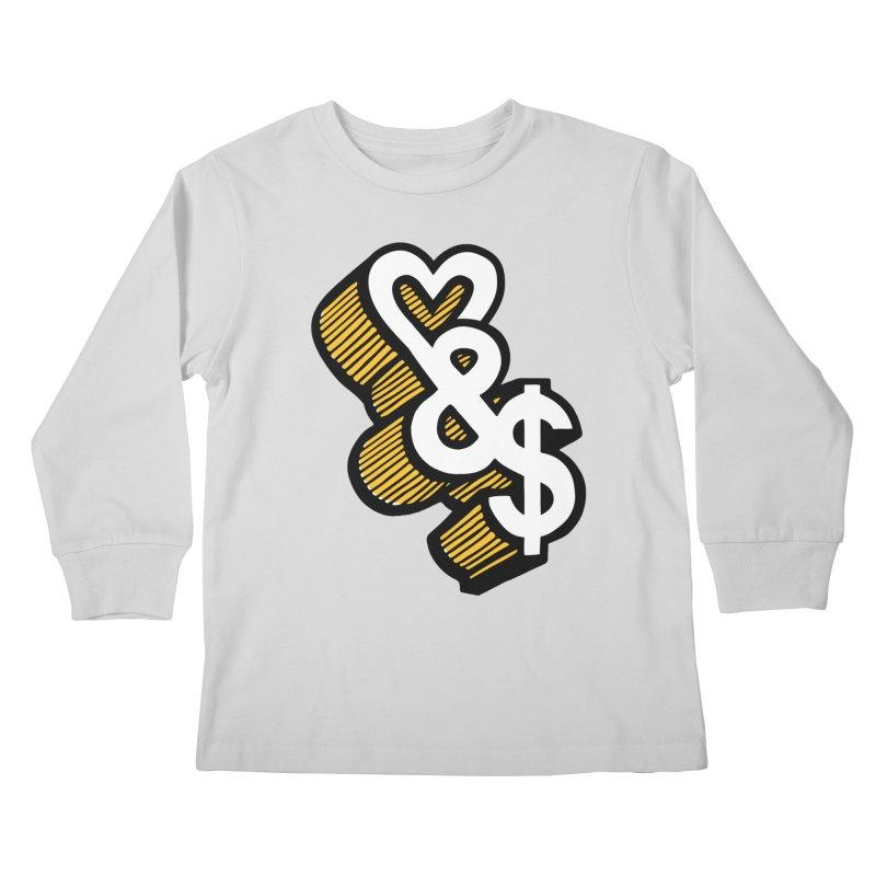 love & money Kids Longsleeve T-Shirt by bortwein's Artist Shop