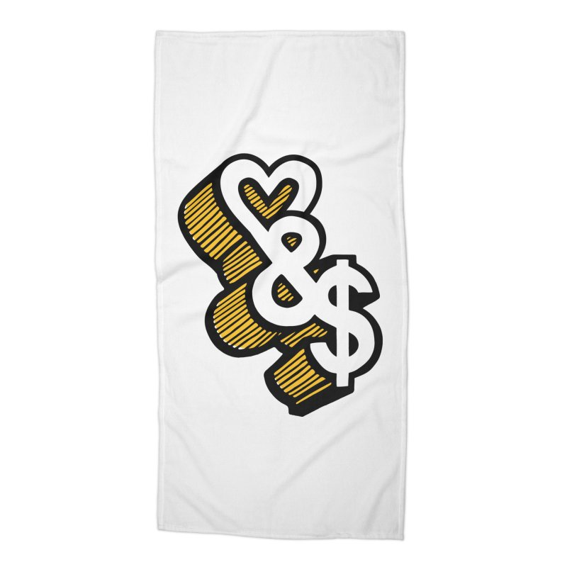 love & money Accessories Beach Towel by bortwein's Artist Shop