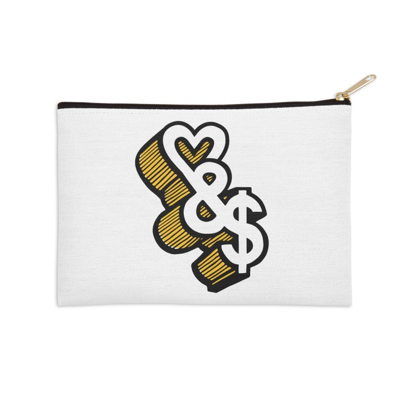 love & money Accessories Zip Pouch by bortwein's Artist Shop