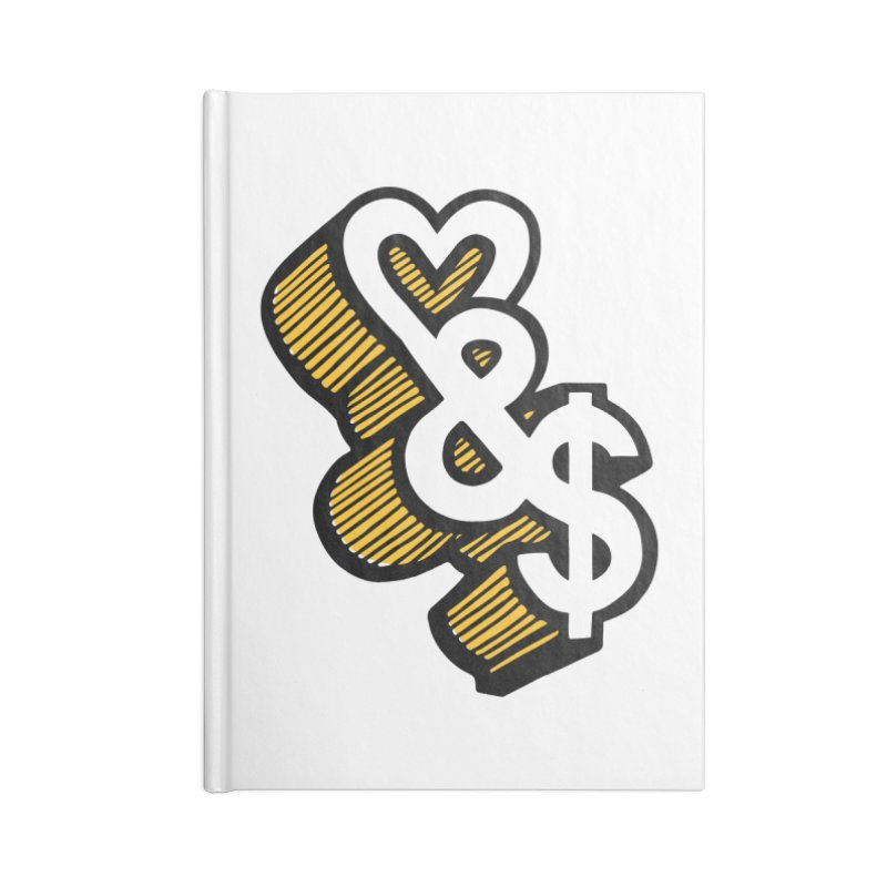 love & money Accessories Notebook by bortwein's Artist Shop