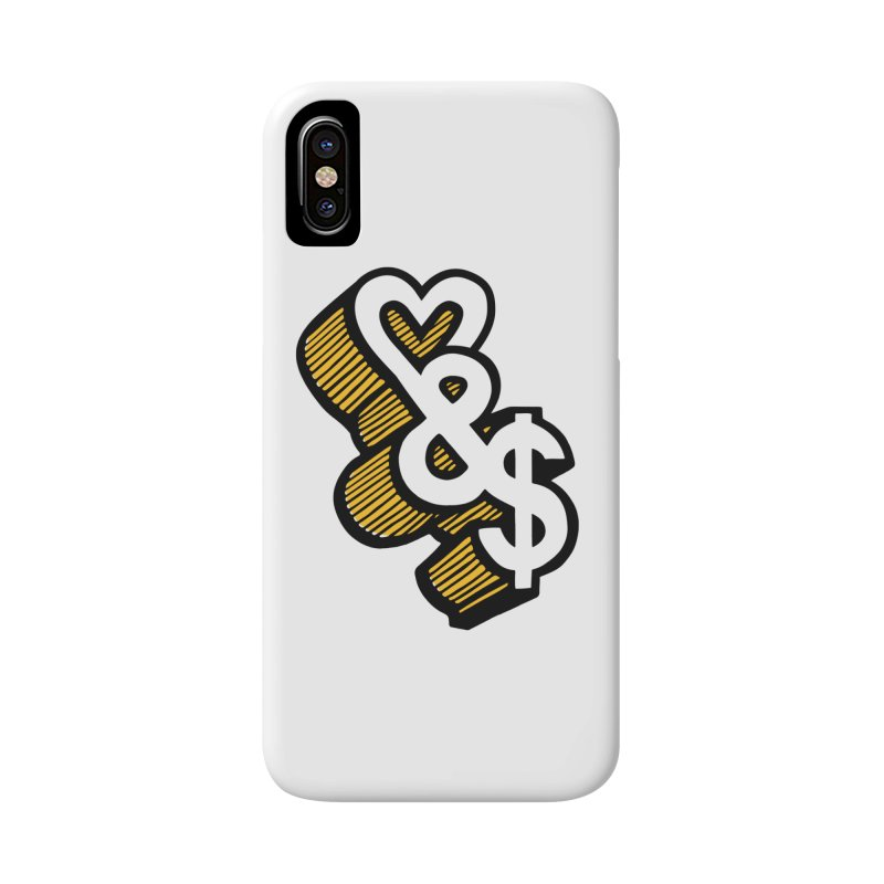 love & money Accessories Phone Case by bortwein's Artist Shop