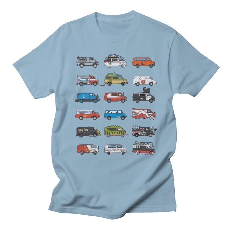 It Would Have Been Cooler as a Van 3.0 in Men's T-shirt Light Blue by bortwein's Artist Shop