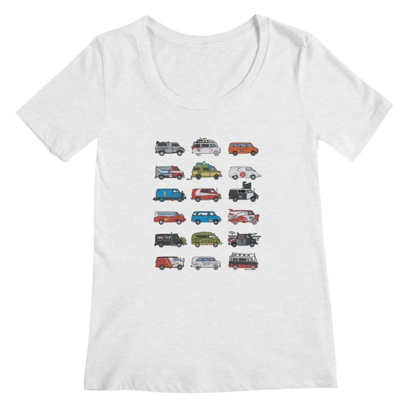 It Would Have Been Cooler as a Van 3.0 Women's Scoopneck by bortwein's Artist Shop