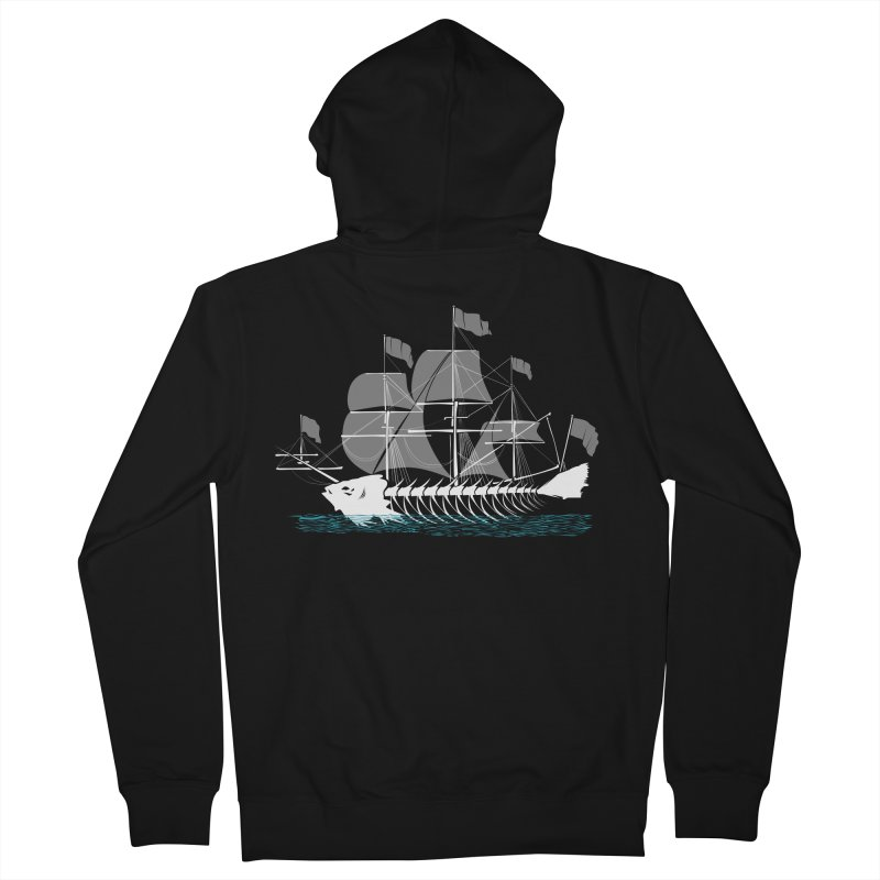 Cutter Fish Men's Zip-Up Hoody by bortwein's Artist Shop