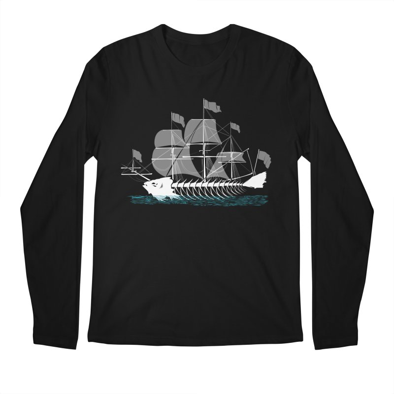 Cutter Fish Men's Longsleeve T-Shirt by bortwein's Artist Shop