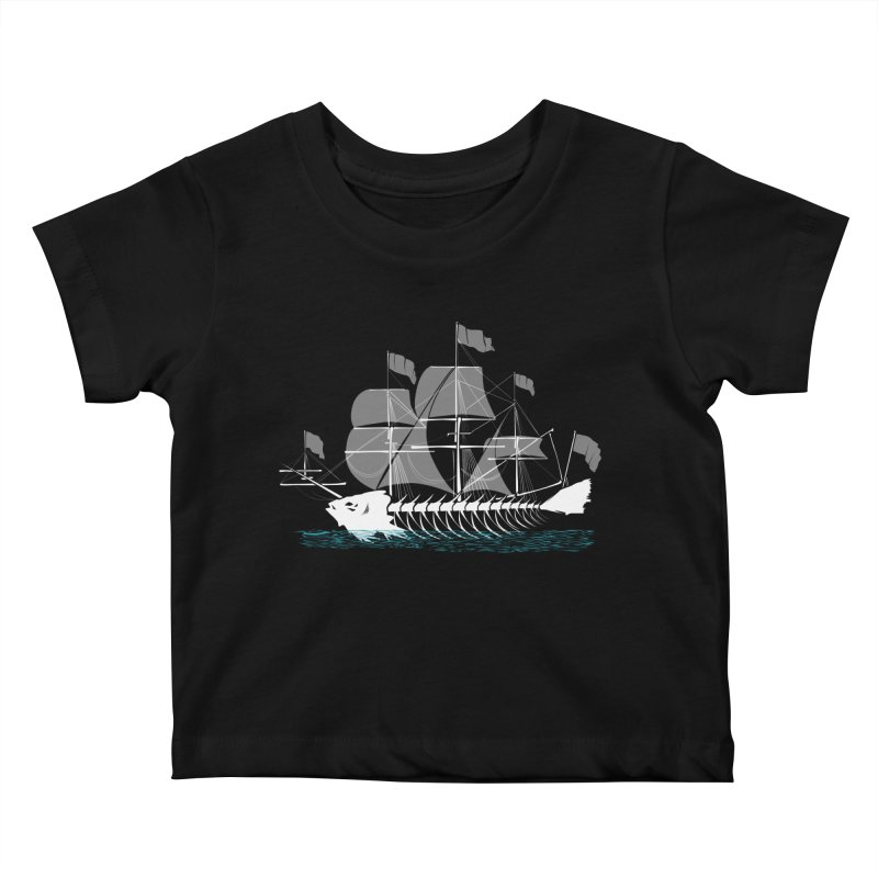 Cutter Fish Kids Baby T-Shirt by bortwein's Artist Shop
