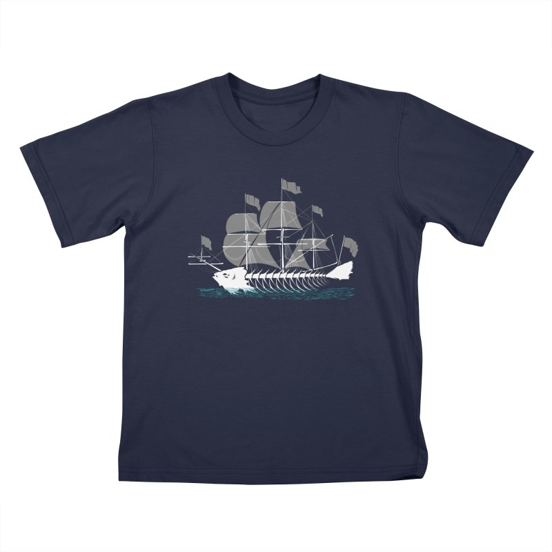Cutter Fish Kids T-shirt by bortwein's Artist Shop