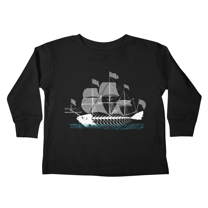 Cutter Fish Kids Toddler Longsleeve T-Shirt by bortwein's Artist Shop