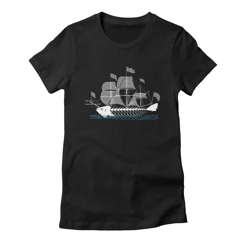 Cutter Fish Women's Fitted T-Shirt by bortwein's Artist Shop