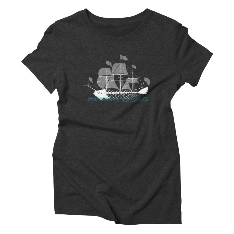 Cutter Fish Women's Triblend T-Shirt by bortwein's Artist Shop