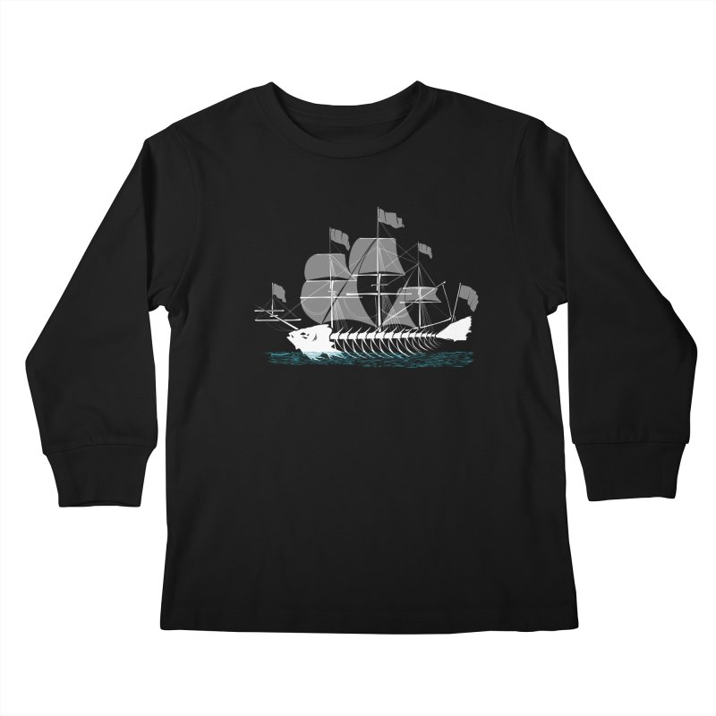 Cutter Fish Kids Longsleeve T-Shirt by bortwein's Artist Shop