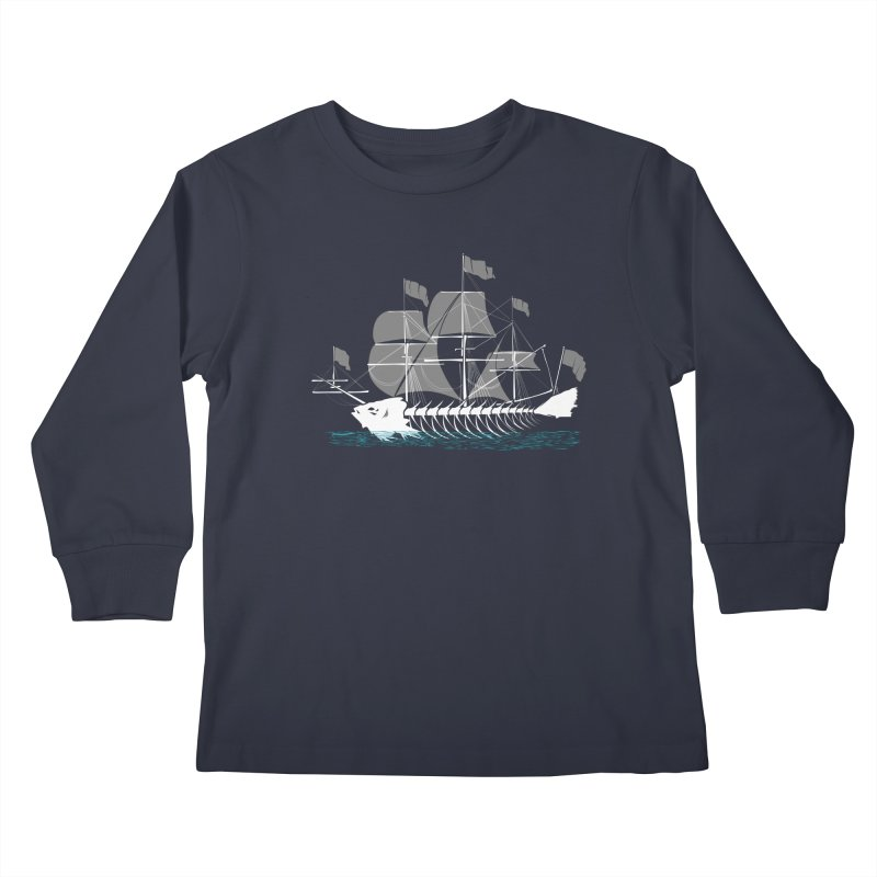 Cutter Fish Kids Longsleeve T-Shirt by bortwein's Artist Shop