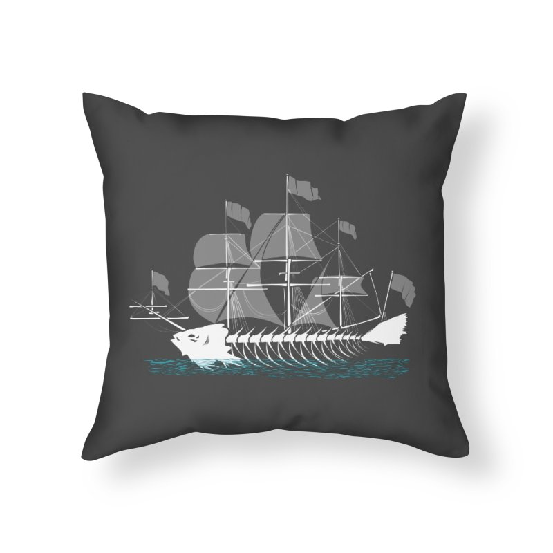Cutter Fish Home Throw Pillow by bortwein's Artist Shop