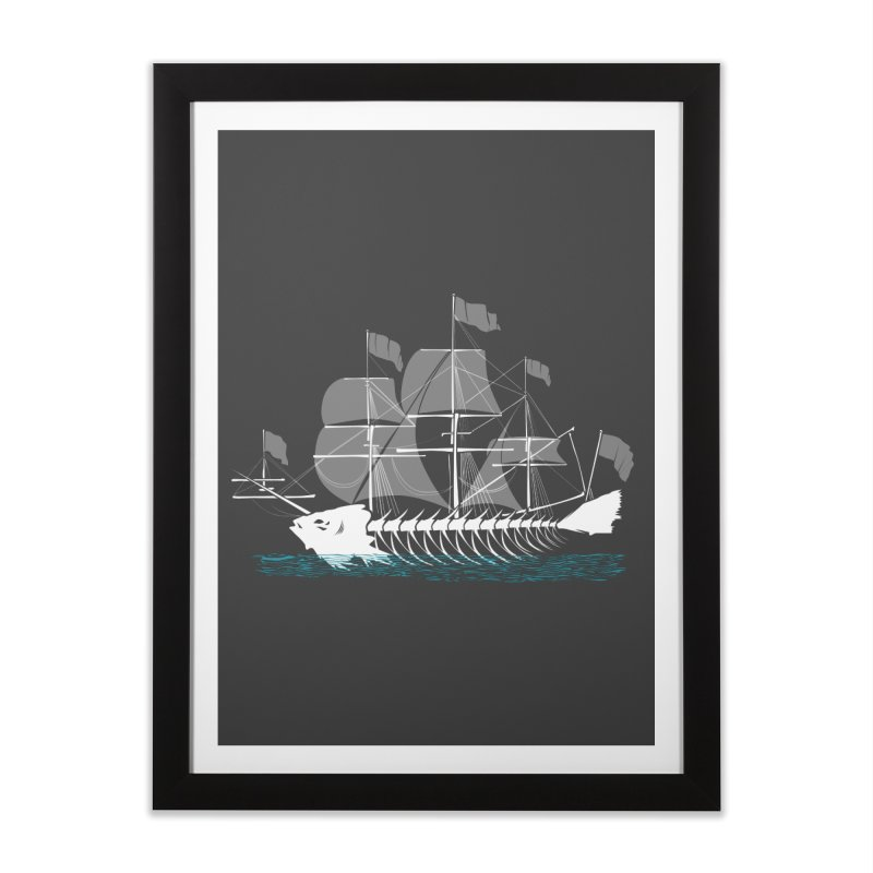 Cutter Fish Home Framed Fine Art Print by bortwein's Artist Shop
