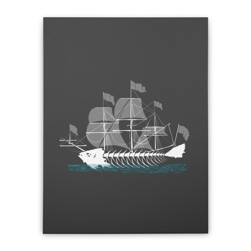 Cutter Fish Home Stretched Canvas by bortwein's Artist Shop