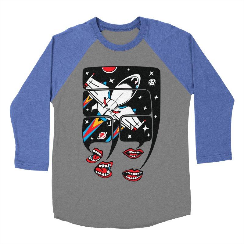 Let's Talk About SpaceShips Men's Baseball Triblend T-Shirt by bortwein's Artist Shop