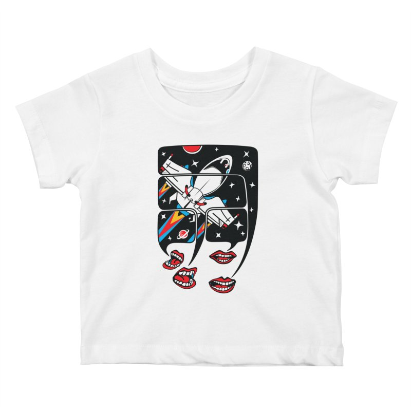 Let's Talk About SpaceShips Kids Baby T-Shirt by bortwein's Artist Shop