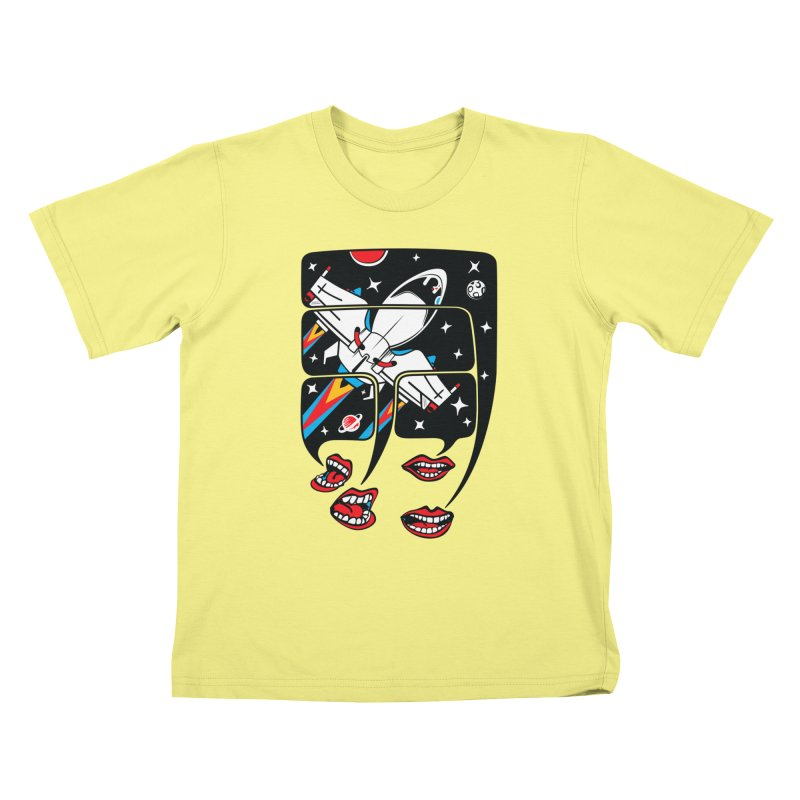 Let's Talk About SpaceShips Kids T-shirt by bortwein's Artist Shop