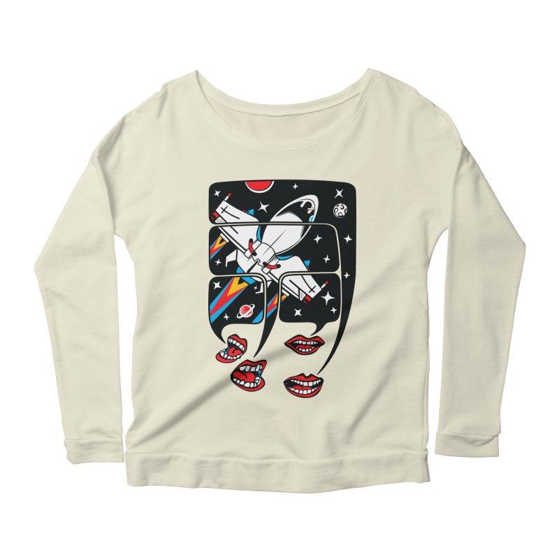 Let's Talk About SpaceShips Women's Scoop Neck Longsleeve T-Shirt by bortwein's Artist Shop