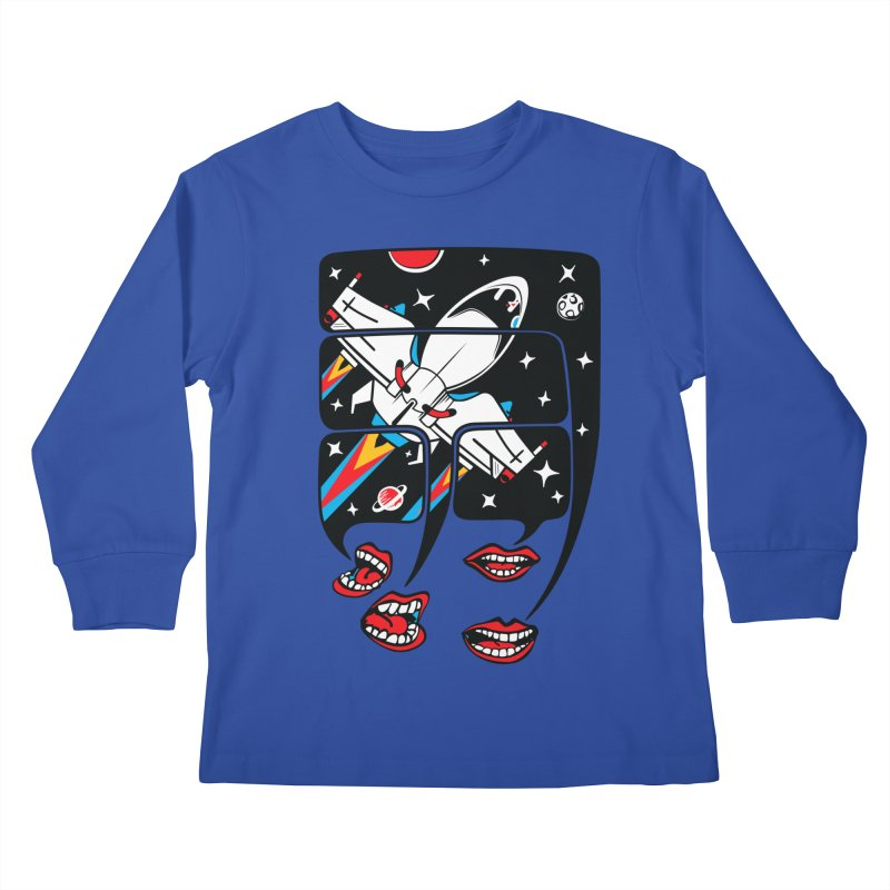 Let's Talk About SpaceShips Kids Longsleeve T-Shirt by bortwein's Artist Shop
