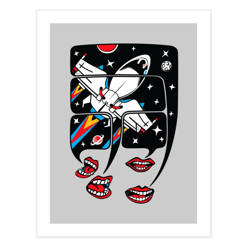 Let's Talk About SpaceShips Home Fine Art Print by bortwein's Artist Shop